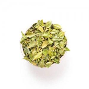 Losse biologische buchu bladeren, tisane, kruid, hartvormig en verlichtend bij blaasontsteking.