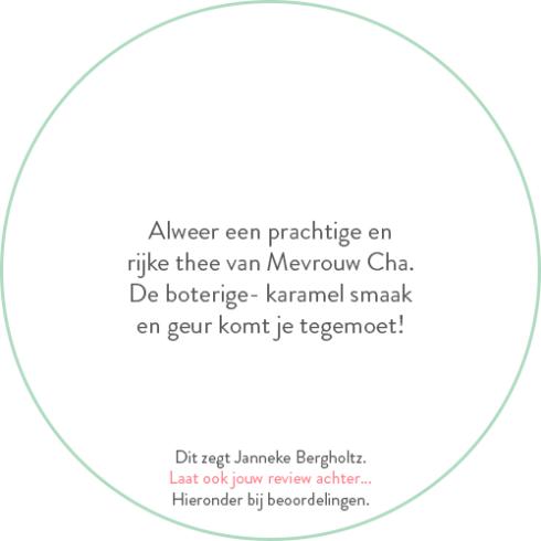 Beoordeling van Janneke Bergholtz over jin xuan oolong