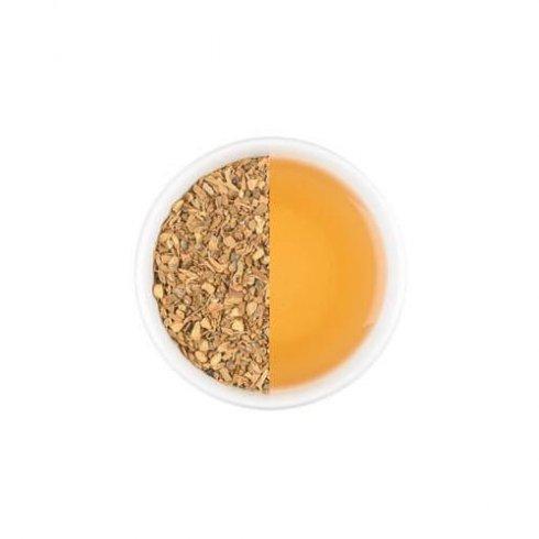 Kruidige chai melange samengesteld door Mevrouw Cha in een theekop