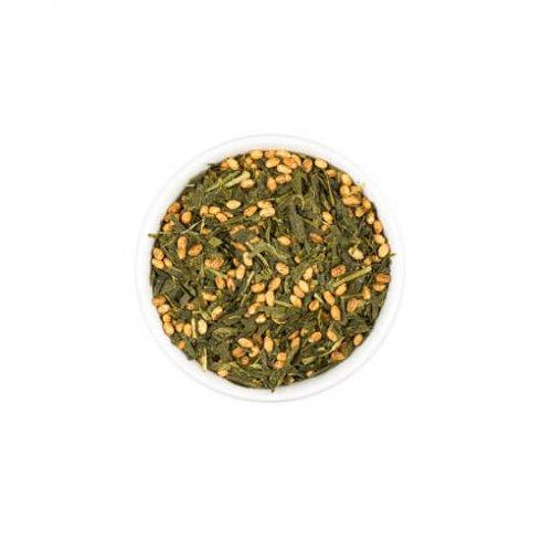 """Genmai cha betekend letterlijk """"bruine rijst thee"""". Deze rijst en thee zijn afkomstig van dezelfde biologische theeboer uit Yame, Japan."""