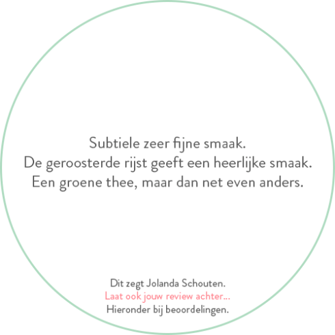 Beoordeling van Jolanda Schouten voor genmaicha