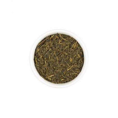Hojicha is geroosterde groene thee met een notig aroma met een diepe aardse zoete smaak.