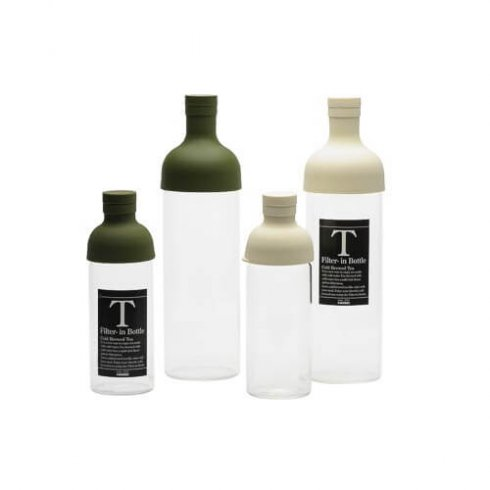 Hario ijstheefles wit en groen ook bekend als filter in bottle 300ml en 750ml in twee kleuren beschikbaar