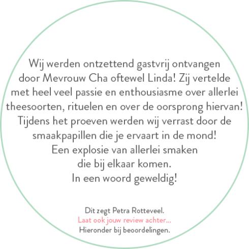 Beoordeling van Petra Rotteveel over theeproeverij
