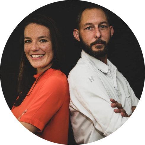 Chef-kok Wouter en Theesommelier Linda met Planta Pop-up