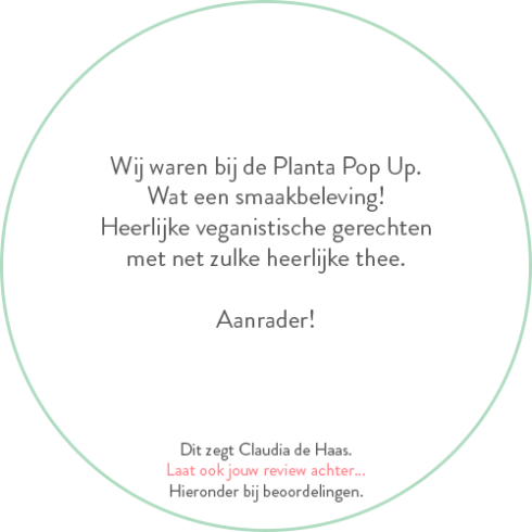 Beoordeling van Claudia de Haas over Planta Pop-up