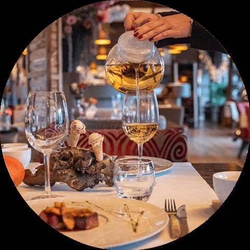 Thee arrangement bij Restaurant Strandlodge