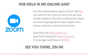 Online theeproeverij met Zoom